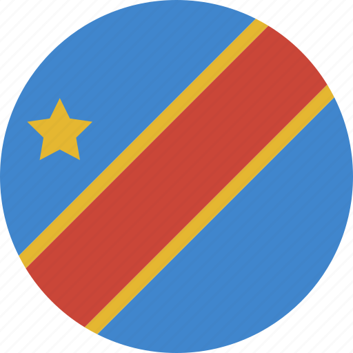circle, congo, democratic, republic icon