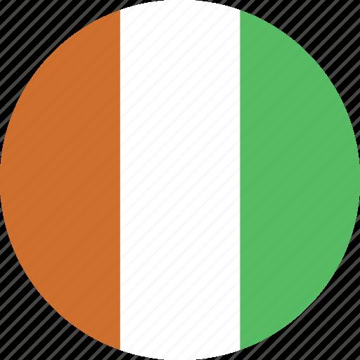 circle, cote, divoire icon