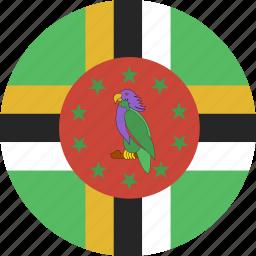 circle, dominica icon