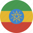 circle, ethiopia icon