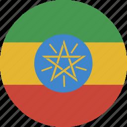 circle, ethiopia icon