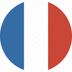 circle, flag, france icon
