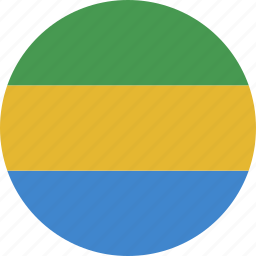 circle, gabon, gabonese, republic icon