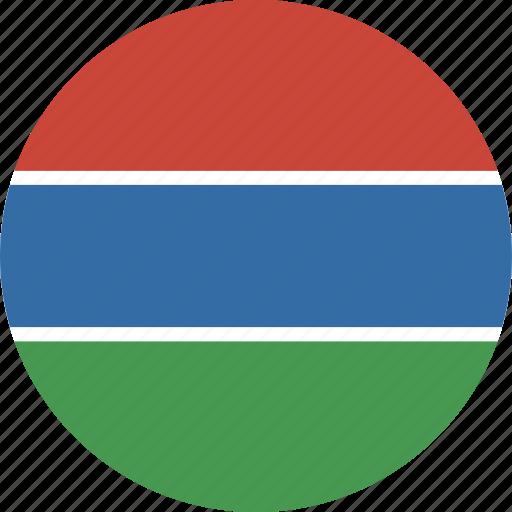 circle, gambia icon