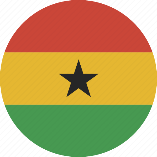 circle, ghana icon