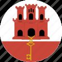 circle, gibraltar icon