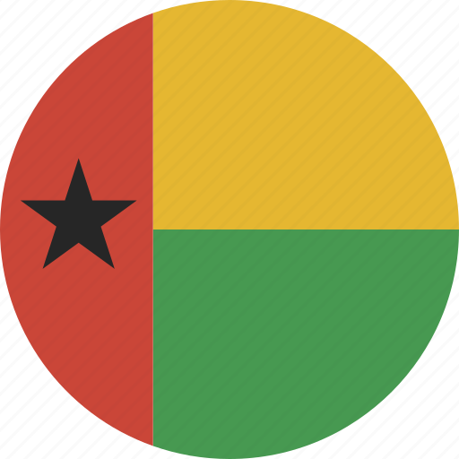 bissau, circle, guinea icon