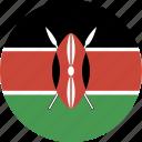 kenya, circle icon