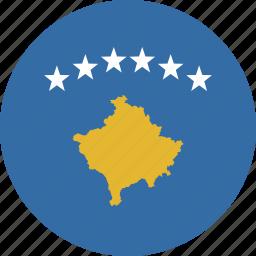 circle, kosovo icon