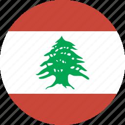 circle, lebanon icon