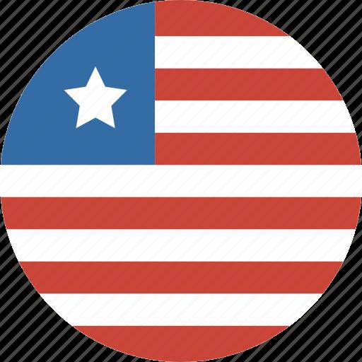 circle, liberia icon