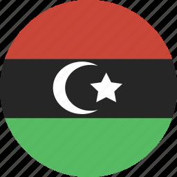 circle, libya icon