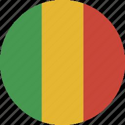 circle, mali icon