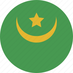 circle, mauritania icon
