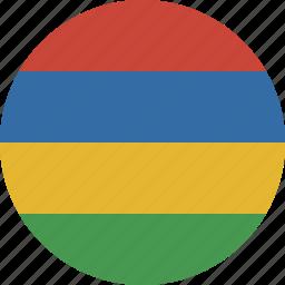 circle, mauritius icon