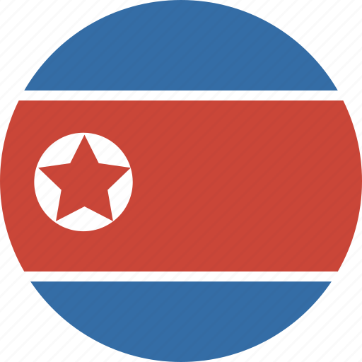 circle, korea, north icon