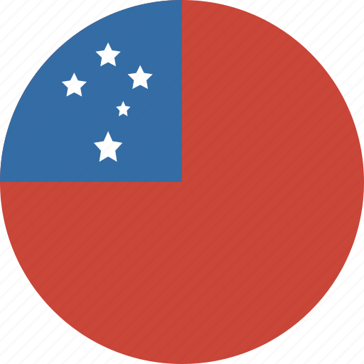 circle, samoa icon