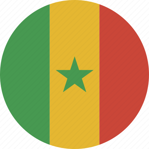 circle, senegal icon