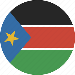 circle, south, sudan icon