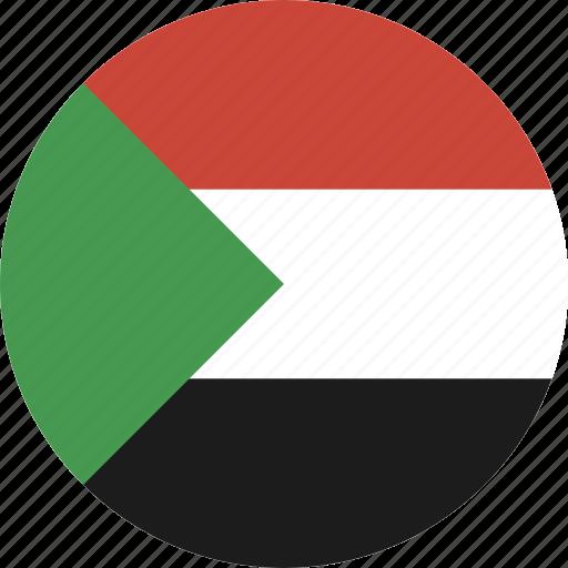 circle, sudan icon