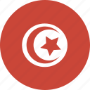 circle, tunisia icon