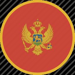 circle, montenegro icon