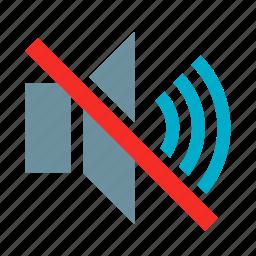 audio, mute, mute music, no audio, no volume, sound off, speaker icon