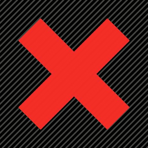 cancel, close, delete, erase, remove, stop, trash icon