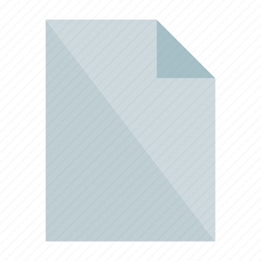 document, empty, file, new file, origami, paper, sheet icon