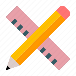 art, art tools, draw, drawing tools, pencil, ruler, sketch icon