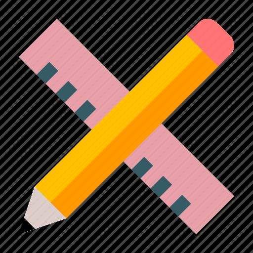 art, art tools, draw, drawing tools, pencil, ruler, sketch icon