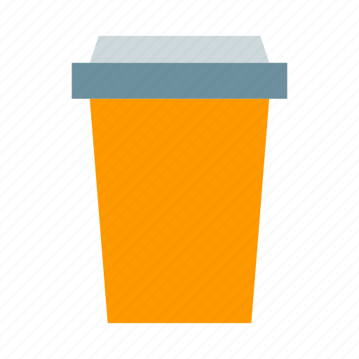coffee cup, coffee to go, hot coffee, orange cup, paper cup icon
