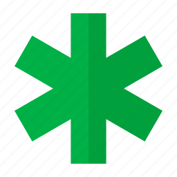 annotation, asterisk, green asterisk, note, remark, sign icon