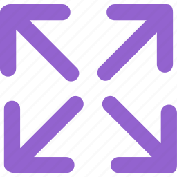 arrow, enlarge, expand, fullscreen, larger, maximize icon