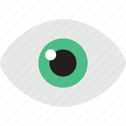 eye, pupils, see, view, views, visibility icon
