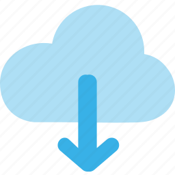 cloud, data, download, file, server, storage, transfer icon