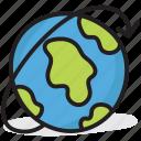 around the world, globe, orb, planet, sphere, worldwide icon
