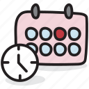 schedule, almanac, task planner, timetable, planner icon