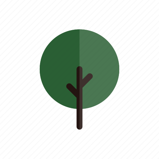 Autumn, branches, circle, green, nature, plant, tree icon - Download on Iconfinder