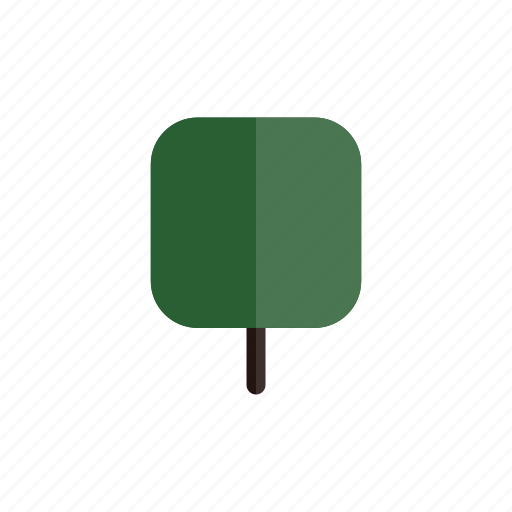 autumn, green, nature, plant, square, tree icon