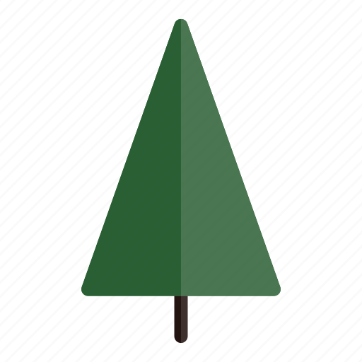 autumn, green, nature, plant, tree, triangle icon