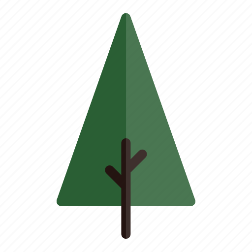 autumn, branches, green, nature, plant, tree, triangle icon