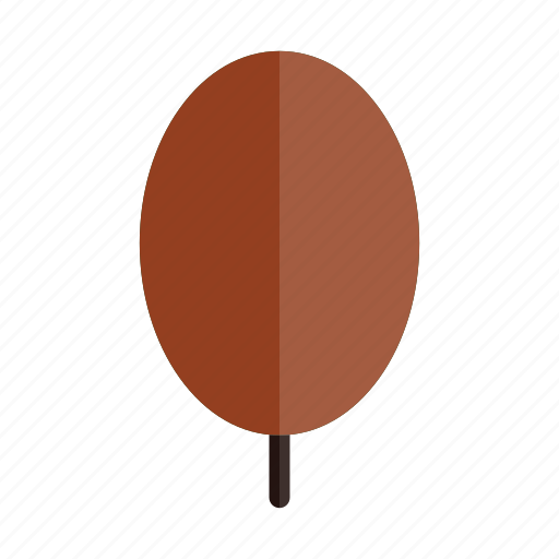 autumn, nature, oval, plant, red, tree icon
