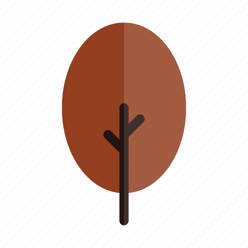 autumn, branches, nature, oval, plant, red, tree icon