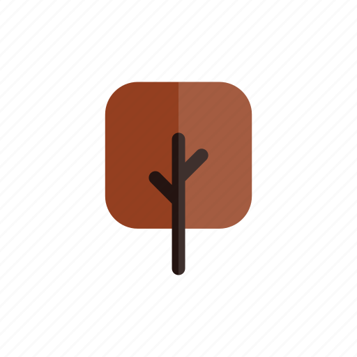 autumn, branches, nature, plant, red, square, tree icon
