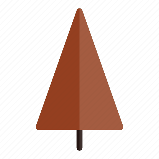 autumn, nature, plant, red, tree, triangle icon