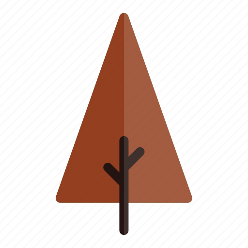 autumn, branches, nature, plant, red, tree, triangle icon