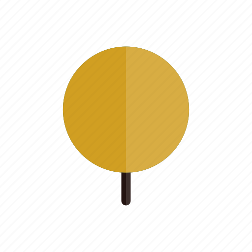 autumn, circle, nature, plant, tree, yellow icon