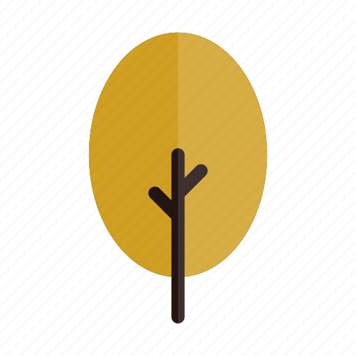 autumn, branches, nature, oval, plant, tree, yellow icon