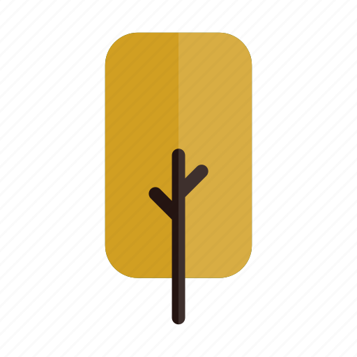 autumn, branches, nature, plant, rect, tree, yellow icon